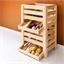Wooden vegetable rack