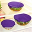 5 floral and purple glass containers