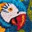 Kokosmat met papegaaimotief