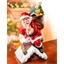 Kerstman in schoorsteen met bewegingssensor