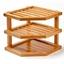 Bamboo corner shelving unit