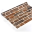 Self-adhesive wallpaper Brick motif or Wood motif