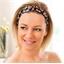 Set van 2 haarbanden met bloemen en stippen