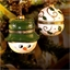 """Gift box Snowman or Set of 2 """"Holly + Snowman"""" Gift Balls"""