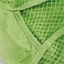 Lined green cotton net