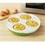 Ronde magnetronschotel voor vier eieren