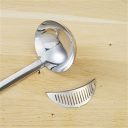 Stainless steel skimming ladle