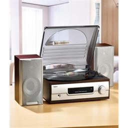 Tourne disques 2 hauts-parleurs
