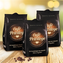1.5 kg de café grains classique (3 paquets de 500g)