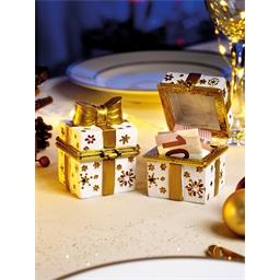 2 Geschenkschachteln Goldene Schleife