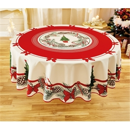 Circular or rectangle Christmas tree tablecloth