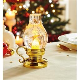 Golden LED oil lamp