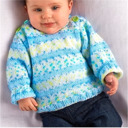 Babylux Colour Yarn Blue/white/yellow