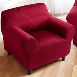 Elasticated 1 seater armchair cover bronze Claret