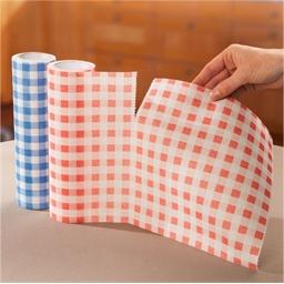 2 rouleaux serviettes vichy rouge bleu