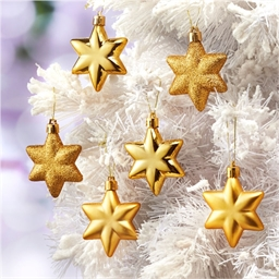 6 étoiles dorées Noël
