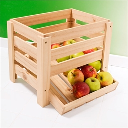 Wooden vegetable rack