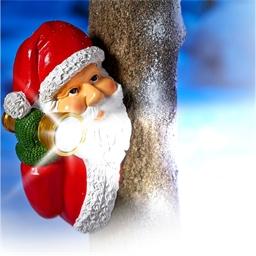 Père Noël lampe torche