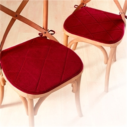 Galettes de chaise à mémoire de forme bordeaux