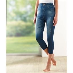 2 corsaires + 2 jeans extensibles : Lot de 4