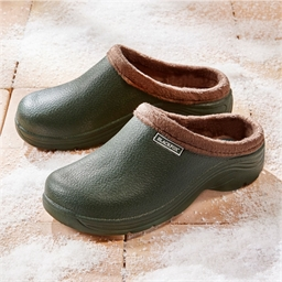 Fur-lined clogs Green - size 3
