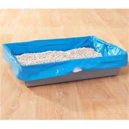 8 plastic cat litter bags