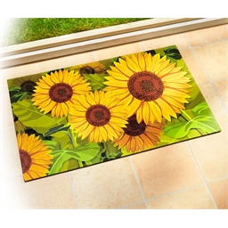 Sunflower print rug