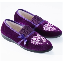 """Christine"" slippers Purple or Burgundy"