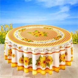 Rond tafelkleed met zonnebloemmotief of Rechthoekig