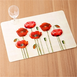 Sets de table « coquelicots »