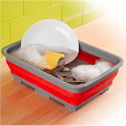 Bassine repliable rouge