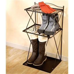 """Wrought iron"" shoe rack"