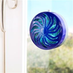 Solar-powered insect-killer disc for window