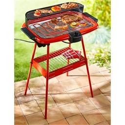 Red 2-in-1 barbecue