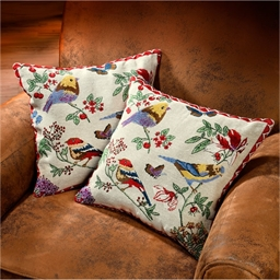 2 bird cushion covers