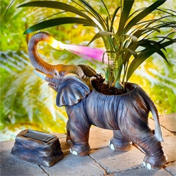 Cache-pot lumineux éléphant