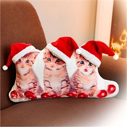 Coussin chats Noël
