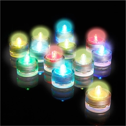 12 coloured LED candles