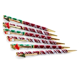 Set of 6 Christmas ball points