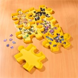 Set mit 6 stapelbaren Dosen für Puzzleteile