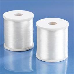 2 bobbins of transparent sewing thread / 2 bobbins of dark sewing thread