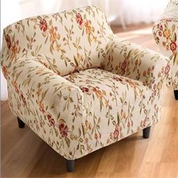 Housse fauteuil ou canapé floréal