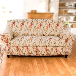 Floral armchair cover