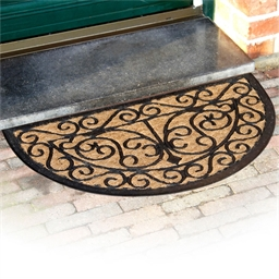 Tapis demi-lune arabesques