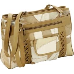 Braided patchwork bag