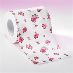 Toiletpapier met rozenprint