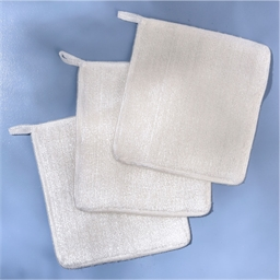 Pack of 3 white bamboo cloths