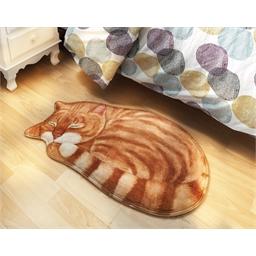 Comfortable 3D rug Grey cat