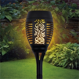 Solar flame effect torch or set of 2