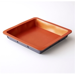 Two-tone silicone cake tin